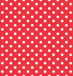 red background polka fabric with white dots vector image