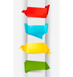 colorful origami paper banners vector image vector image
