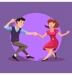 dancing men and woman vector image