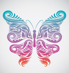Decoration Butterfly Rainbow vector image