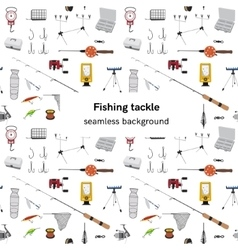 Fishing tackle seamless background vector image vector image