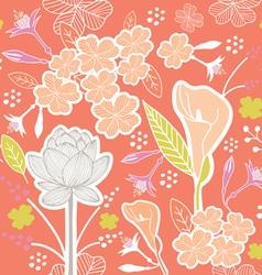 flower pattern set 1D vector image vector image