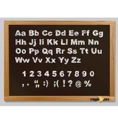 hand-drawn chalk alphabet vector image