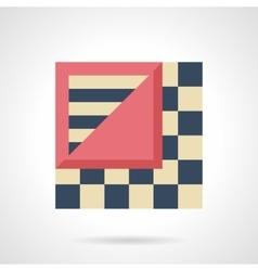 Linoleum levels flat color icon vector image