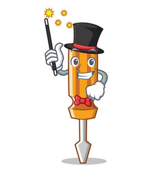 magician screwdriver character cartoon style vector image vector image