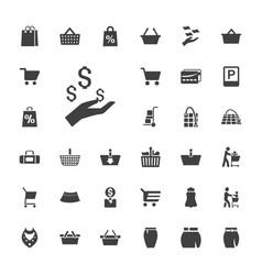 33 shopping icons vector