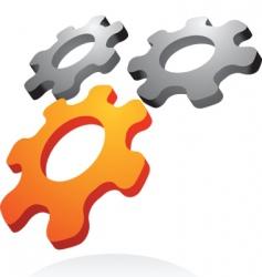 Abstract cogwheels icon and logo vector