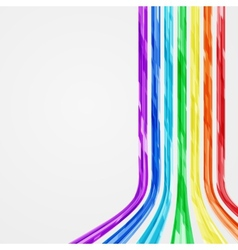 Abstract rainbow lines background vector