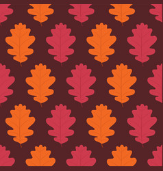 autumn seamless pattern background with fall vector image