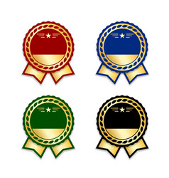 award ribbon the best set vector image