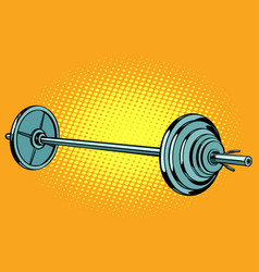 Barbell weightlifting sports vector