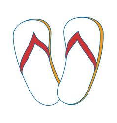 Beach sandals icon vector