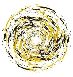 Black and yellow circle grunge vector image