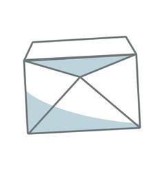 Blank envelope open postal email communication vector