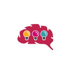 brain ideas logo vector image