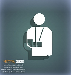Broken arm disability icon symbol on the vector