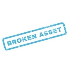 Broken Asset Rubber Stamp vector