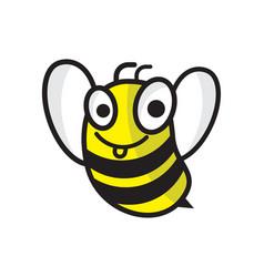 Cartoon bee logo design template honey logo vector