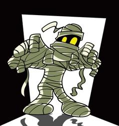cartoon spooky mummy vector image