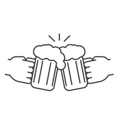 Cheers linear icon vector