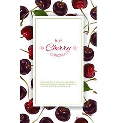 Cherry vertical banners vector