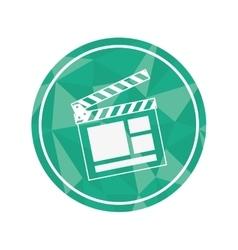 Cinema clapboard icon vector