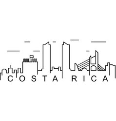 Costa rica outline icon can be used for web logo vector