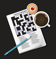 Crossword Coffee2 vector