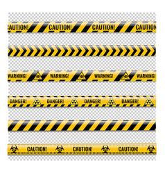 Danger ribbons set isolated transparent background vector