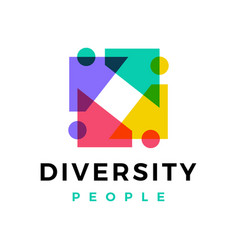 diversity people family logo icon vector image