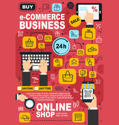 e-commerce and online shopping concept vector image