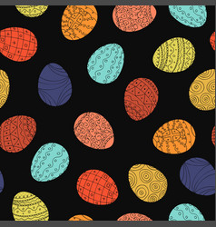 Easter eggs - seamless pattern hand drawn vector