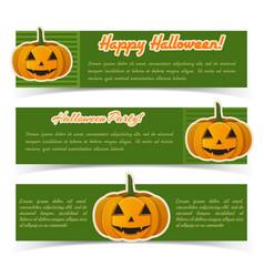 festive halloween horizontal banners vector image