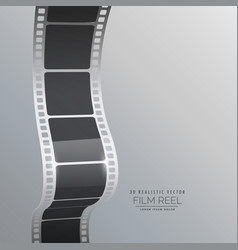 Film reel strip background vector