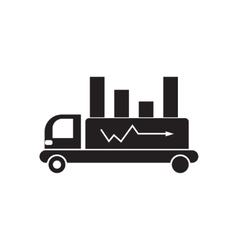 Flat icon in black and white car diagram vector