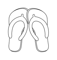 flip flops sandals in black and white vector image