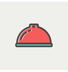 Food serving tray thin line icon vector image