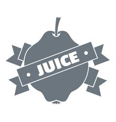 fruit juice logo simple style vector image