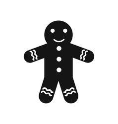 Gingerbread man icon simple style vector