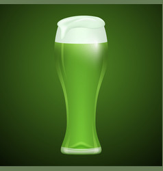 glass of green beer vector image