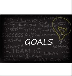 Goals On Chalk Board vector image