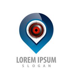gps tracking target logo concept design symbol vector image