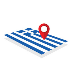 greece flag with pointer vector image