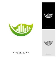 green city logo concepts symbol icon of vector image