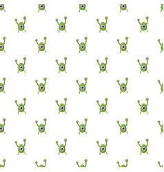 green one eye alien monster pattern vector image
