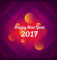 happy new year 2017 celebration design vector image