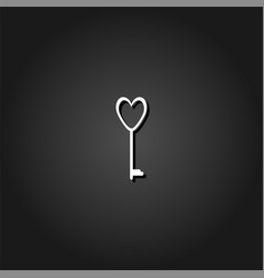 heart key icon flat vector image