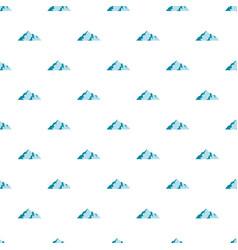 Ice mountain pattern seamless vector