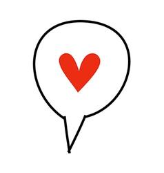 Icon heart vector