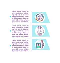 Intermittent fasting benefits concept icon vector
